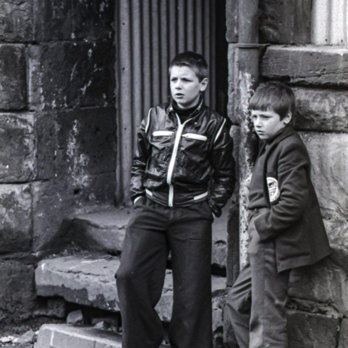 Boys in Govan, 1977.