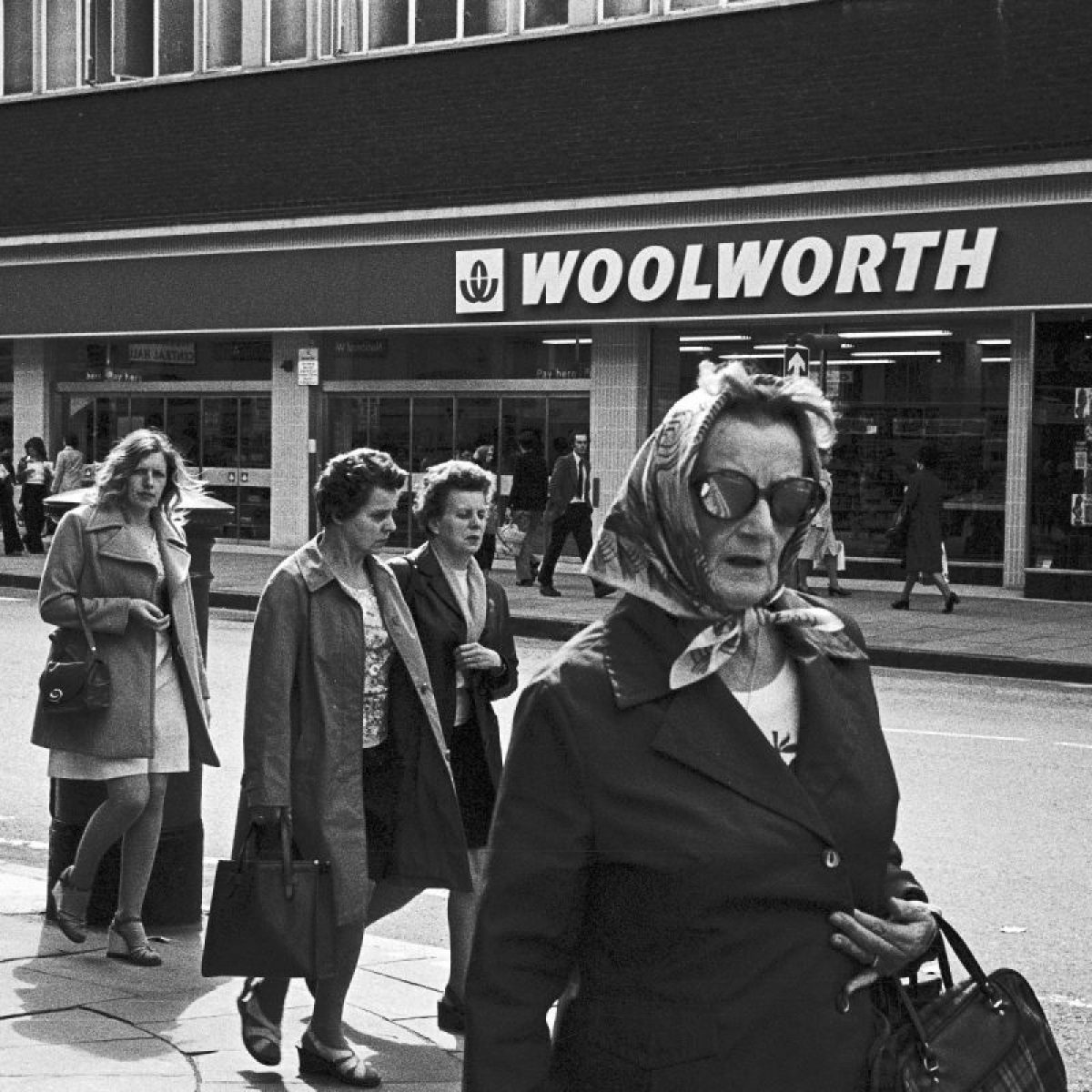 Shoppers in Hull, 1970s.