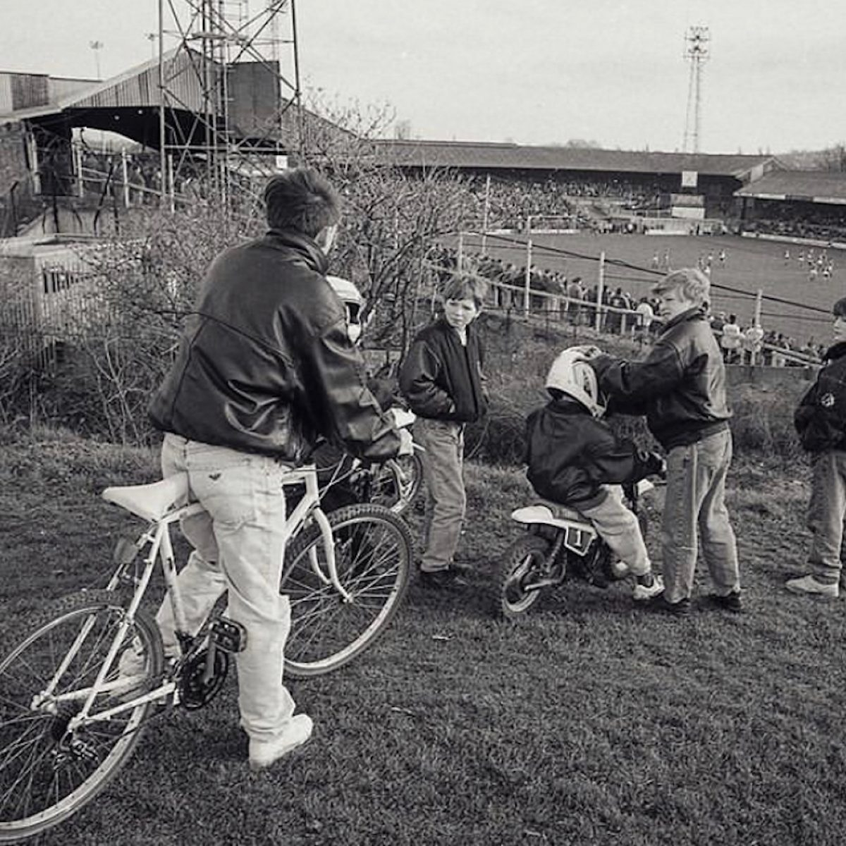 Overlooking the Old Den, Millwall, 1993.